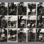 Brackish Pond, Gum Transfer on handmade paper, 2007